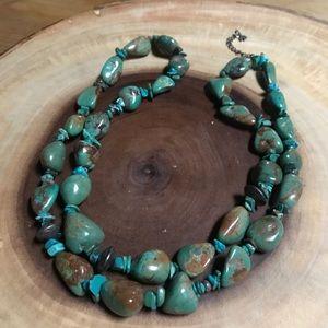 Sundance Catalog Peyote Bird Turquoise necklace 2